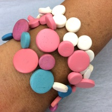 French Silk Smarties Elastic Cluster Bracelet