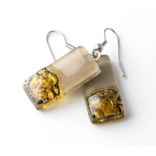 Natural Bronze Rectangle Earrings