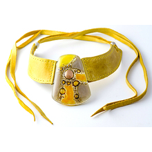 Yellow Dalila Leather Necklace