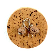 Natural Palmwood Lola Round Wooden Bead Earrings