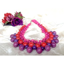 Pink Purple Cleopatra Short Necklace