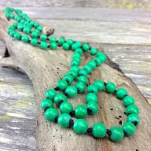Mint Green Single Lady Long Wooden Necklace