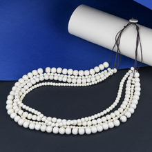 Bleach White Bella 4 Strand Wooden Necklace