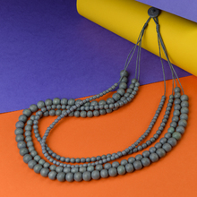 Shady Grey Bella 4 Strand Wooden Necklace