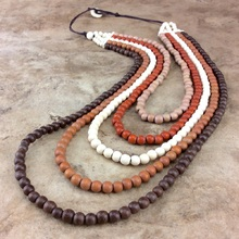 Naturals Kirra 5 Strand Wooden Necklace