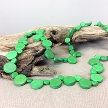 Fern Green Graduated Wooden Smarties Long Necklace