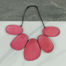 Tulip Pink Xena Short Wooden Shapes Necklace