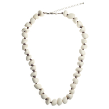 Bleach White Freya Short Wooden Necklace