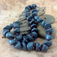 Slate Freya Short Wooden Necklace