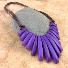 Violet Melody Adjustable Necklace