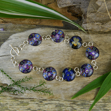 Purple Mexican Flowers Round Bracelet