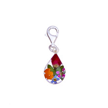 Garden Mexican Flowers Drop Charm with Clasp