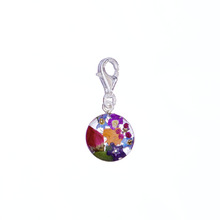 Garden Mexican Flowers Round Charm with Clasp