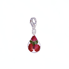 Red Mexican Flowers Drop Charm with Clasp