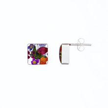 Garden Square Small Stud Earrings
