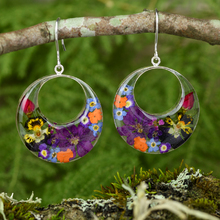 Garden Mexican Flowers Round Cut Out Earrings