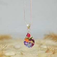 Garden Mexican Flowers Small Drop Necklace