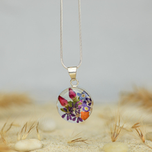 Garden Mexican Flowers Small Round Necklace