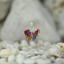 Garden Mexican Flowers Small Butterfly Pendant