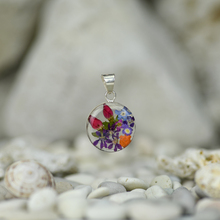 Garden Mexican Flowers Small Round Pendant