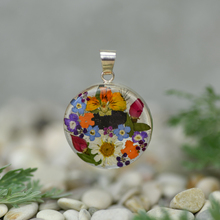 Garden Mexican Flowers Medium Round Pendant