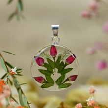 Single Rose Mexican Flowers Medium Round Pendant