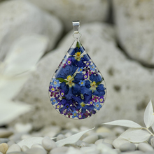 Purple Mexican Flowers Large Drop Pendant