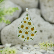 White Mexican Flowers Large Drop Pendant