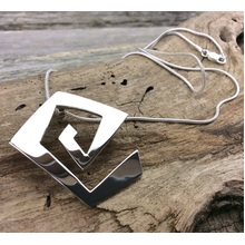 Geo Mexican Silver Necklace