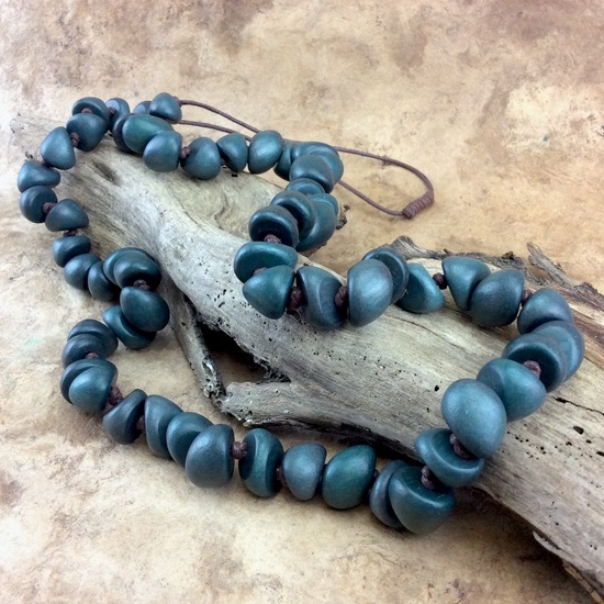 Slate Freya Long Wooden Necklace